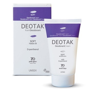Deotak Deodorant Cream Soft 35ml Renksiz